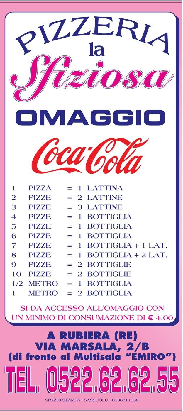 menù pizza