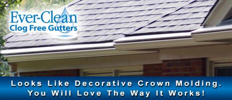 Decorative crown molding gutters