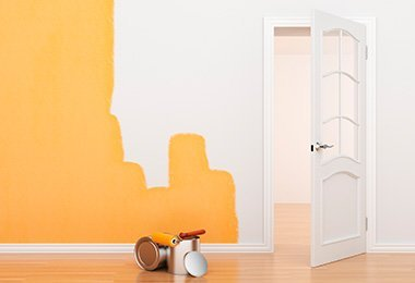 orange-paint-white-room
