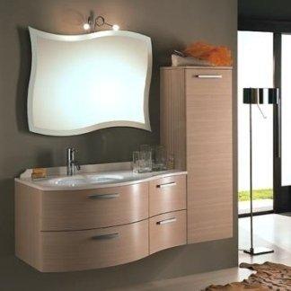 mobile bagno stile moderno, multistrato, laminato, rovere sbiancato