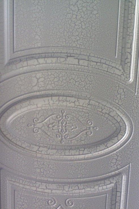 porta massello pantografata laccata bianco screpolante