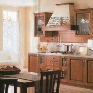 cucina multistrato, ante ciliegio massello imbugnate