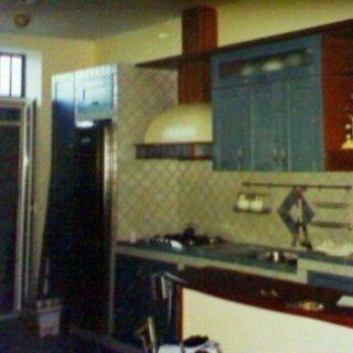 cucina in muratura, ante castagno laccate avion