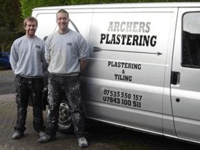 Plastering - East Grinstead, West Sussex - Archers Plastering - Van