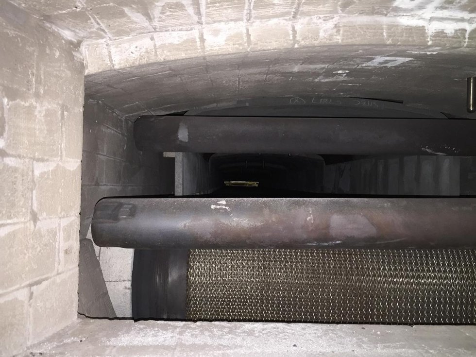 reconstruction of furnace stonework