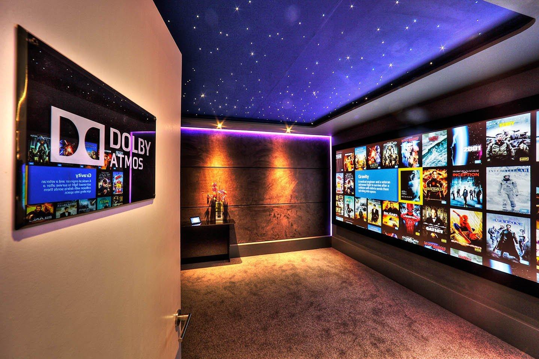 entrance to dedicated home cinema demonstration room