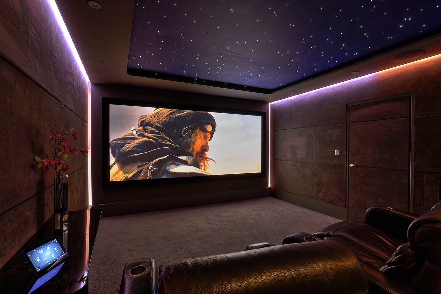 Film Playing At New Wave Home Cinema Demonstration Room