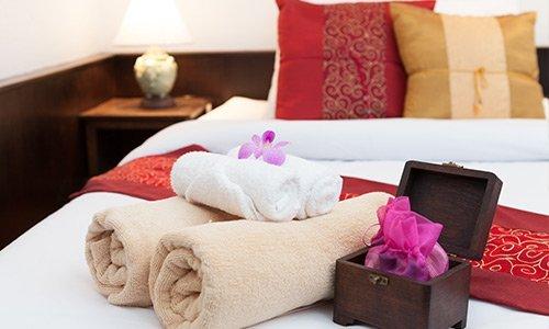 Biancheria da letto e da tavola per l'hotel