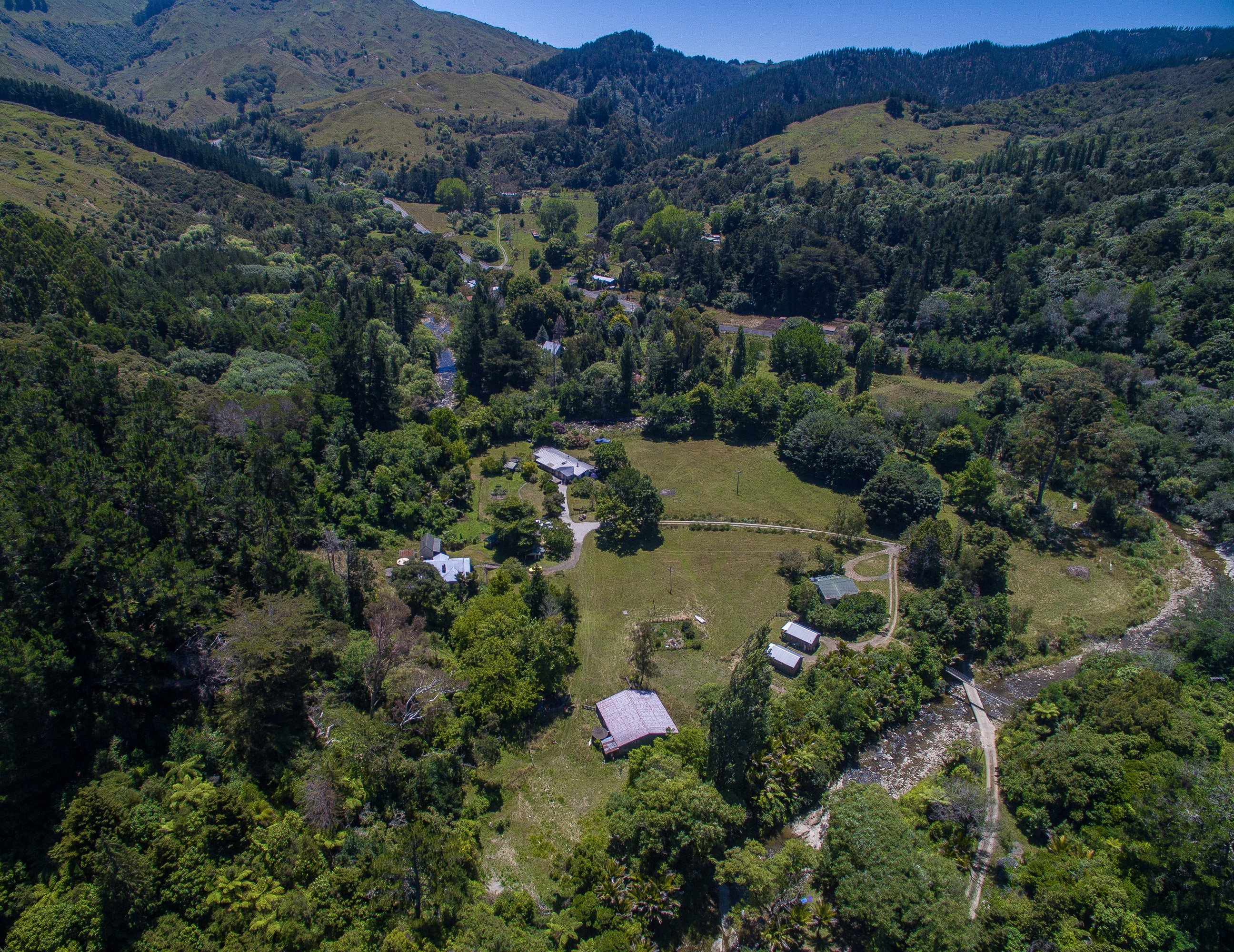 Morere Hot Springs Lodge aerial view