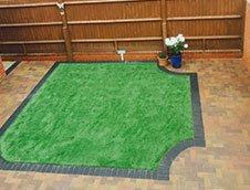 beautiful artificial lawn