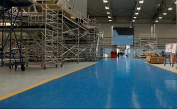 pavimentazione resina industria aeronautica