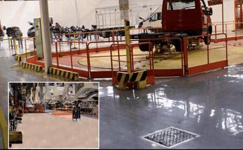 pavimentazione resina industria automotive salerno