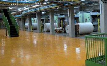 fornitura pavimentazione resina industria tipografica