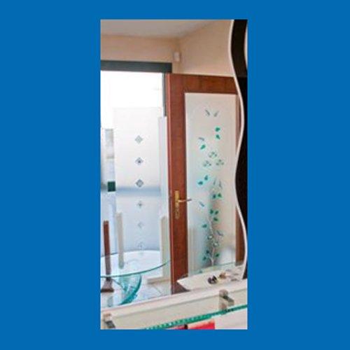 porta per il bagno a vetri