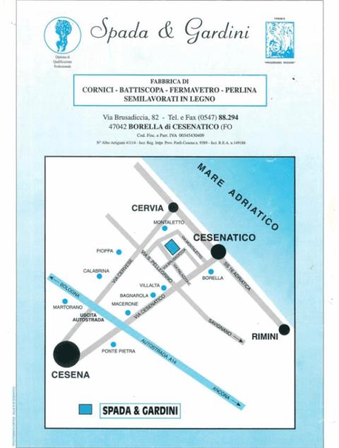 mappa falegnameria