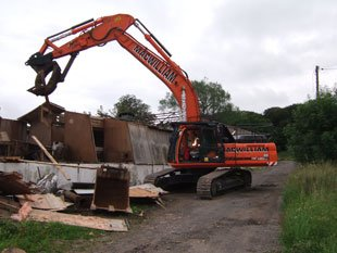 Asbestos removal service - Lanarkshire, Scotland - MacWilliam Demolition Ltd - Excavator Hire