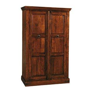 un armadio con due ante in legno