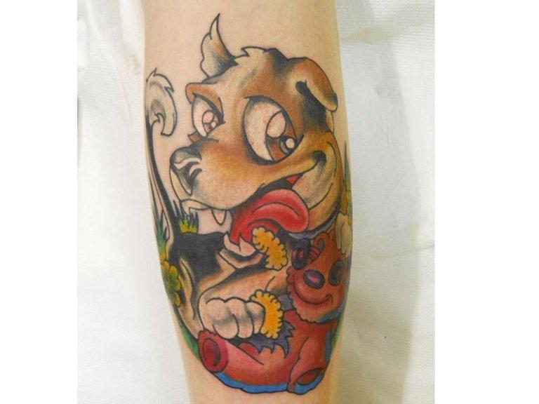 tatuaggio cane