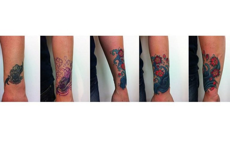Cover up fiore colore