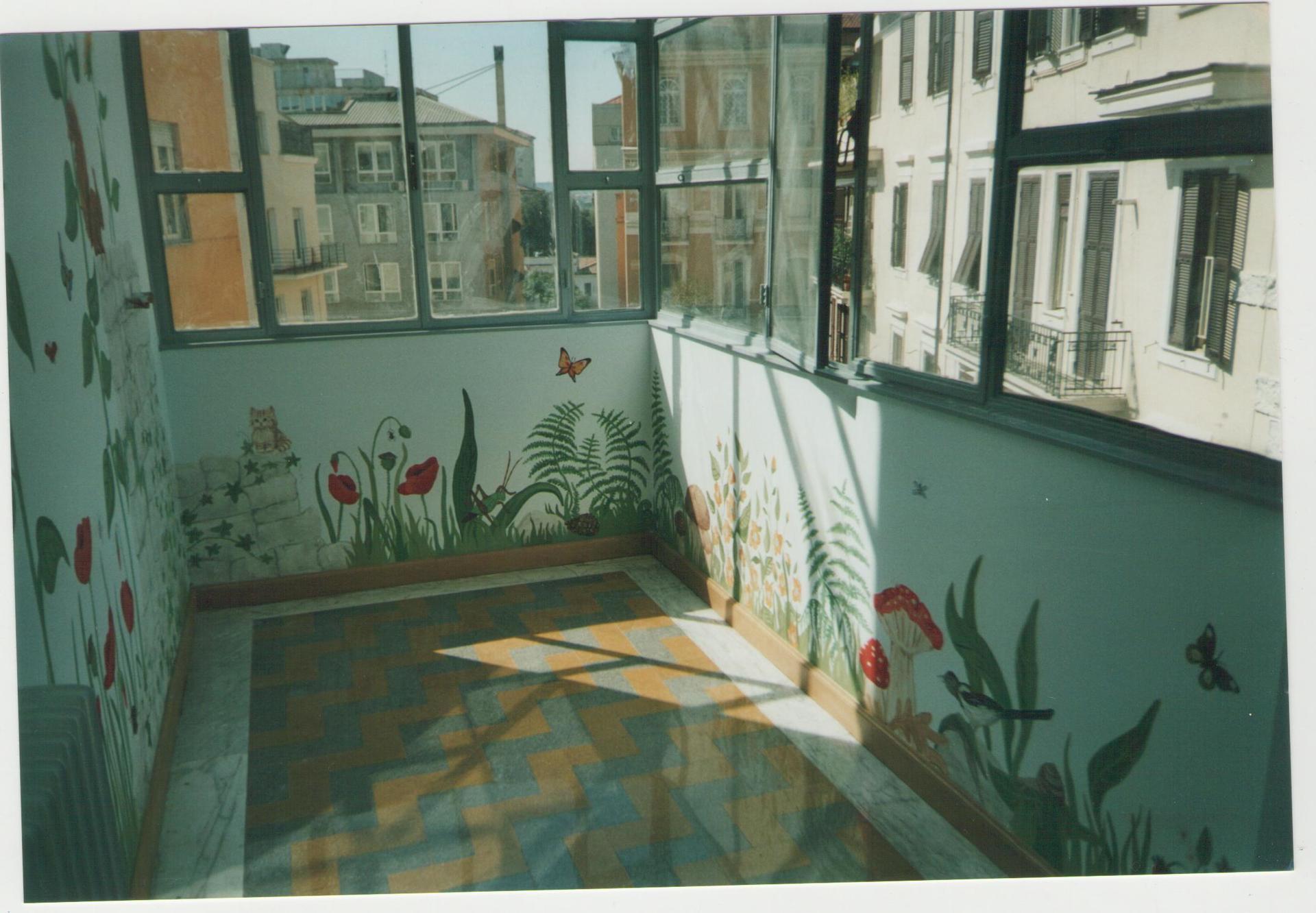 Decorazione di una veranda