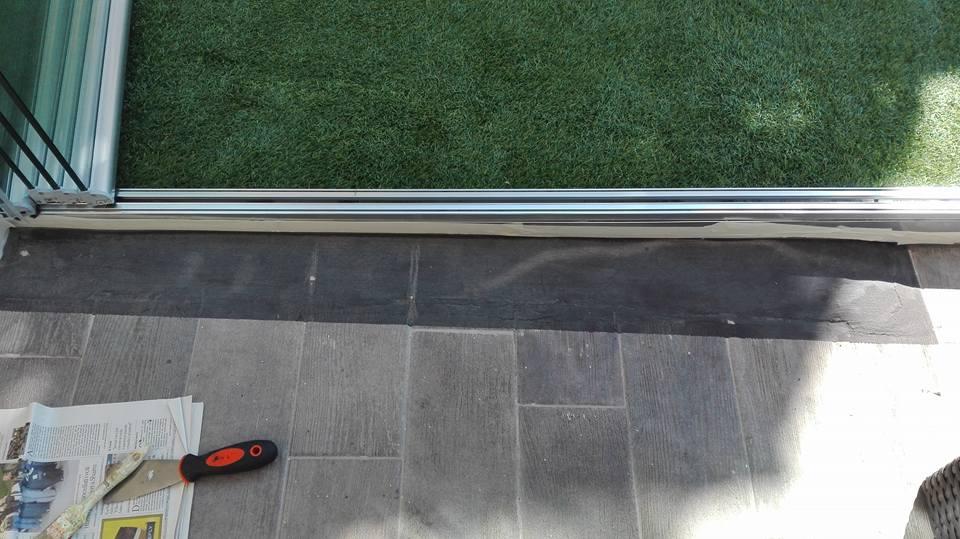 Restauro pavimento esterno - ricostruzione mattoncini con pittura