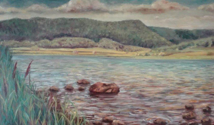 Olio su tela - Lago di Vico