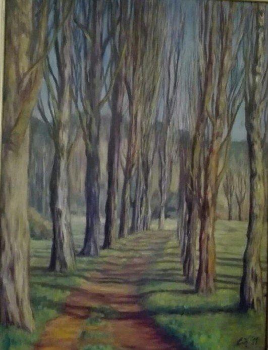 Paesaggio olio su tela