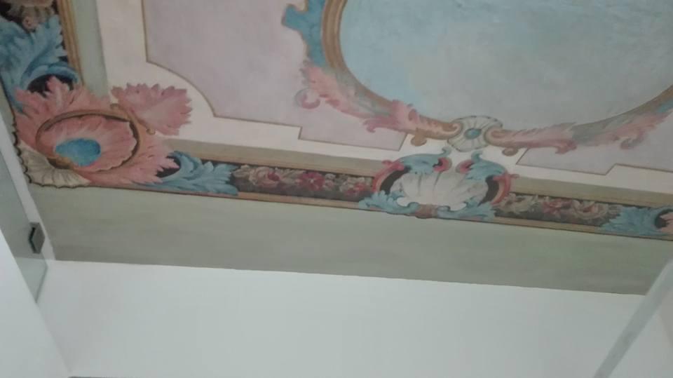 Restauro soffitto decorato