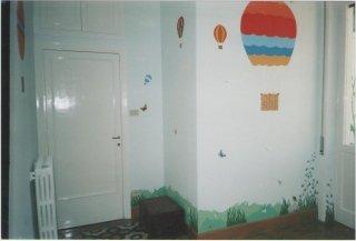 Cameratta per bambini, decorazione armadio