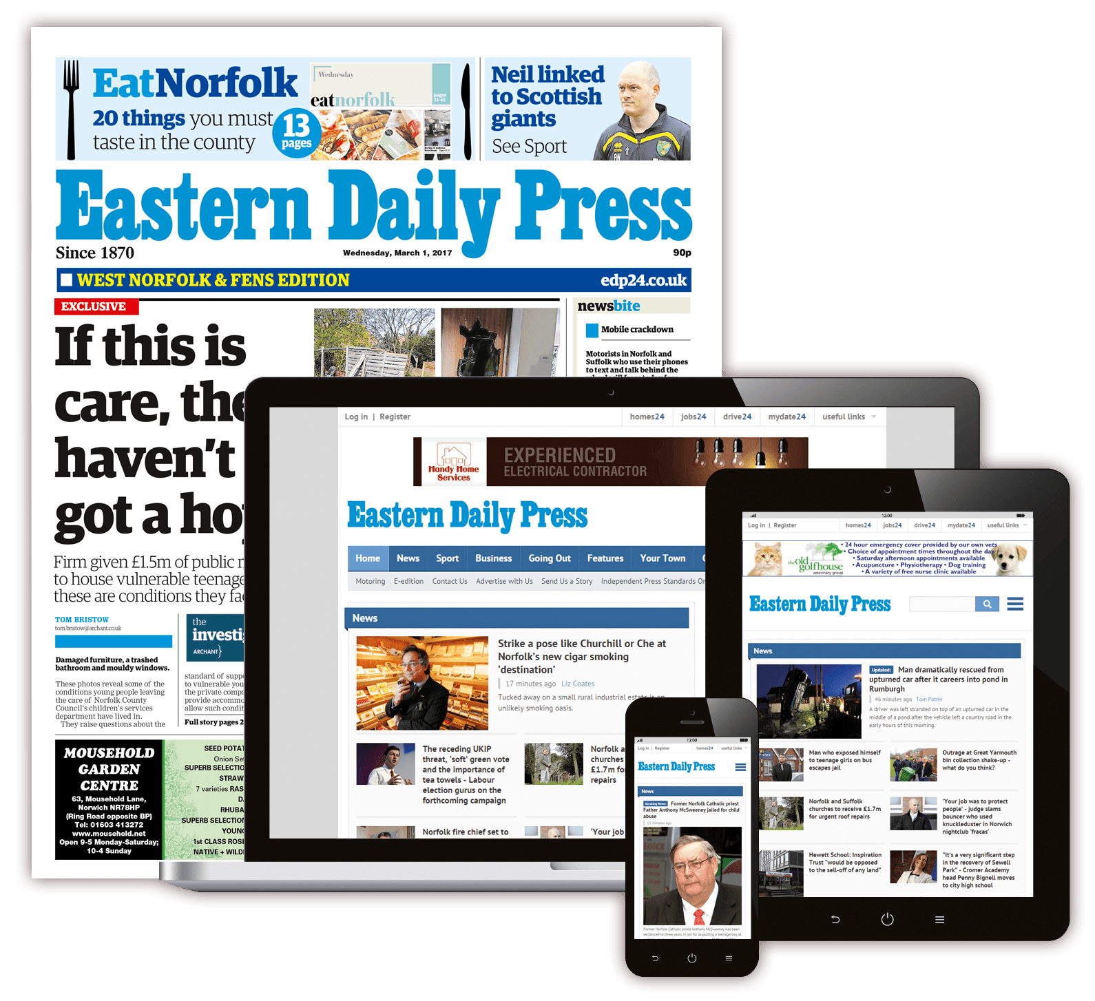 Digital and Print Advertising – Eastern Daily Press