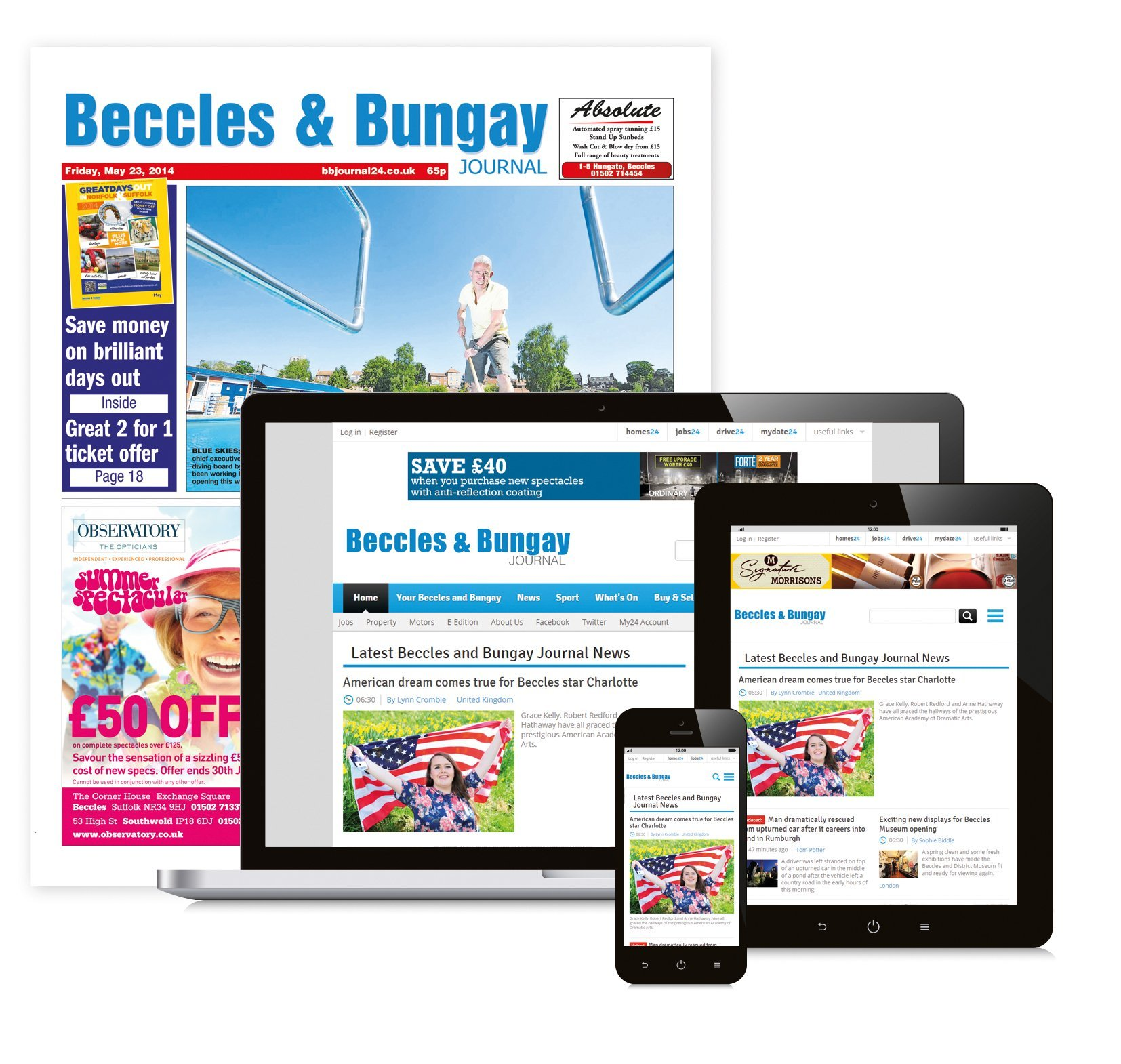 Beccles and Bungay Journal Newspaper
