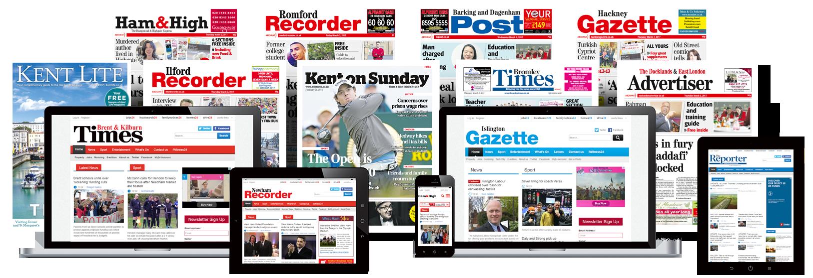 London - Essex - Kent Newspaper Portfolio