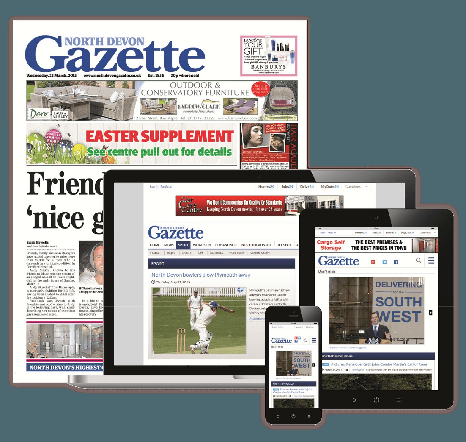 Digital and Print Advertising - North Devon Gazette