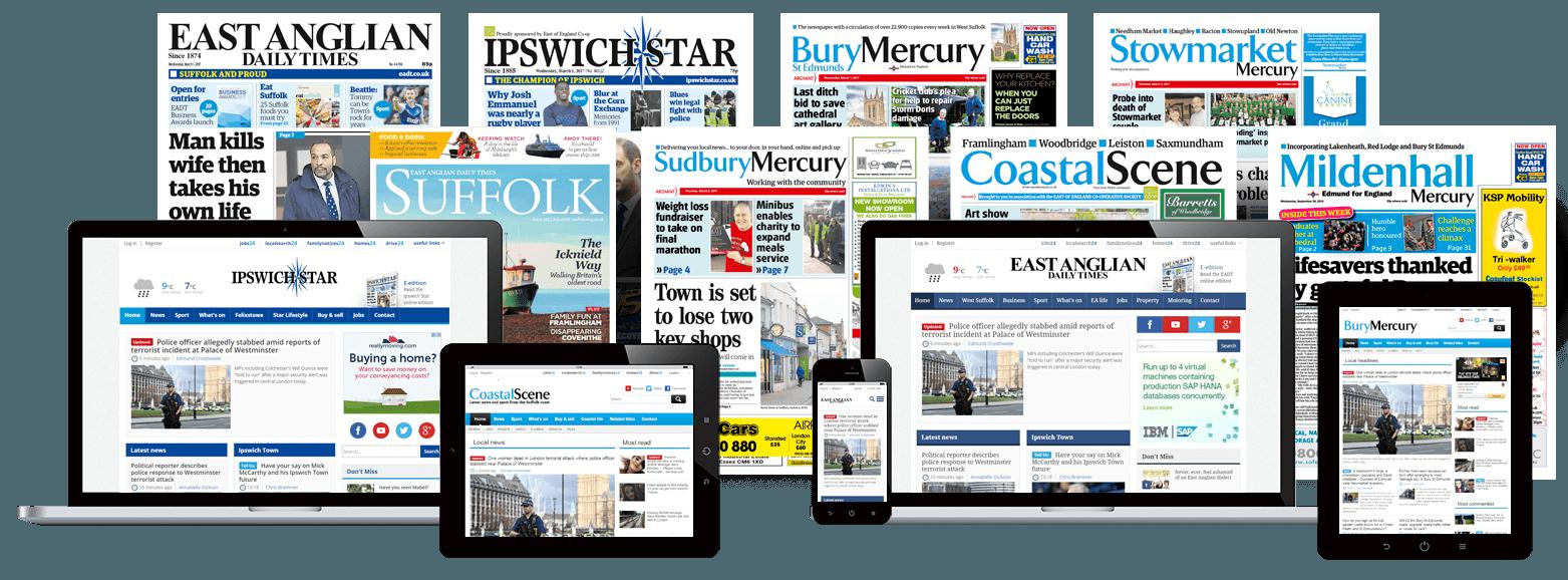 Suffolk Portfolio of newspapers