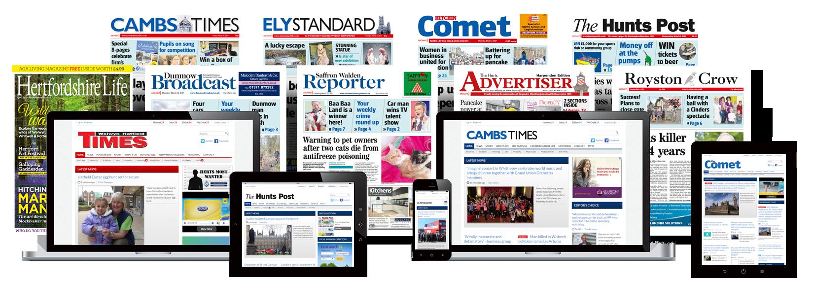 Herts and Cambs Newspaper Portfolio