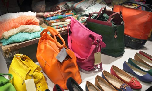 Women's Bags and shoes in the store