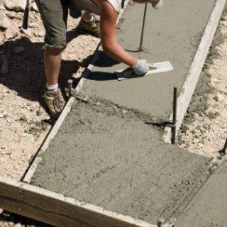 Preparazione di una pavimentazione in calcestruzzo