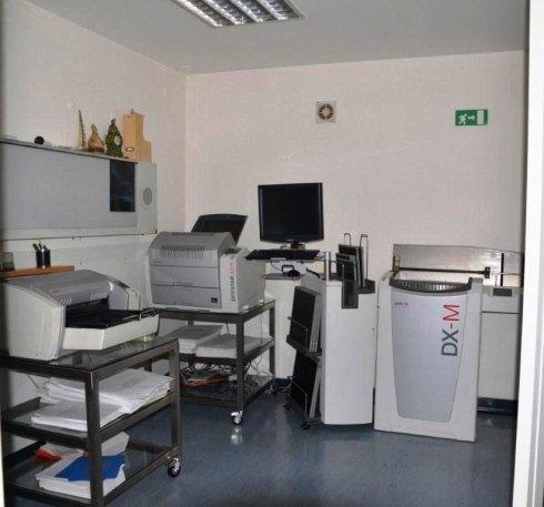 La zona dedicata ai referti radiologici