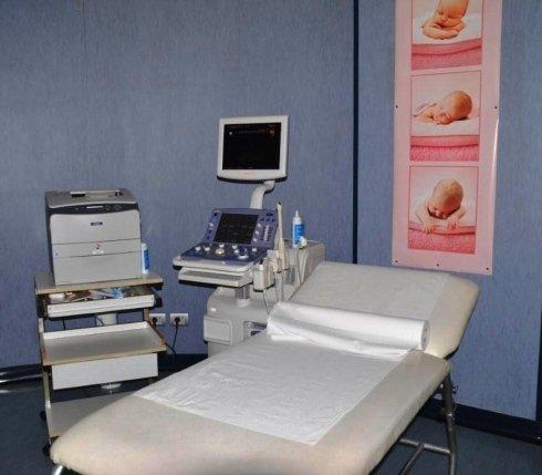 La sala dedicata alle ecografie ostetriche ginecologiche