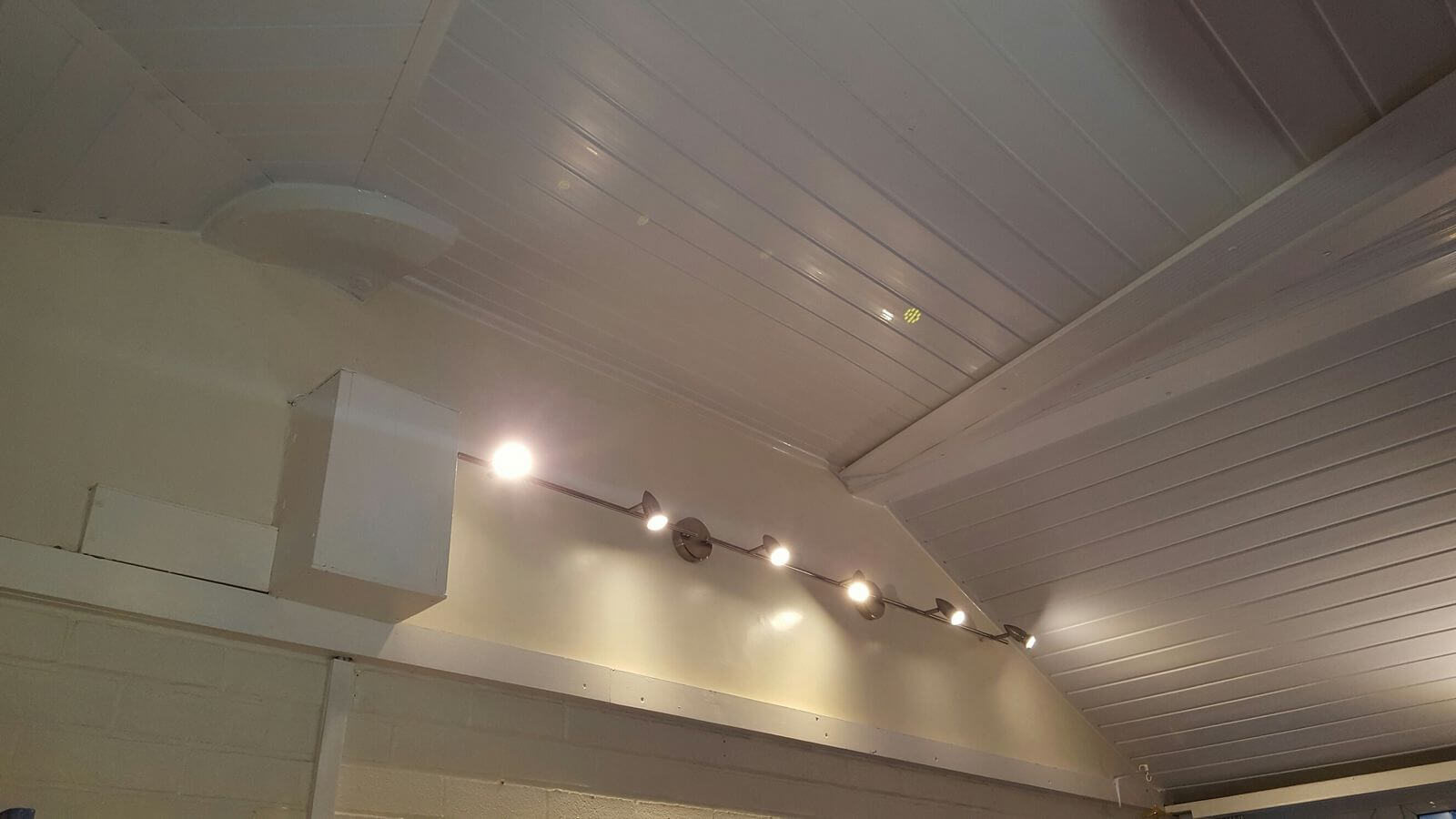 refurbished ceiling - inside view