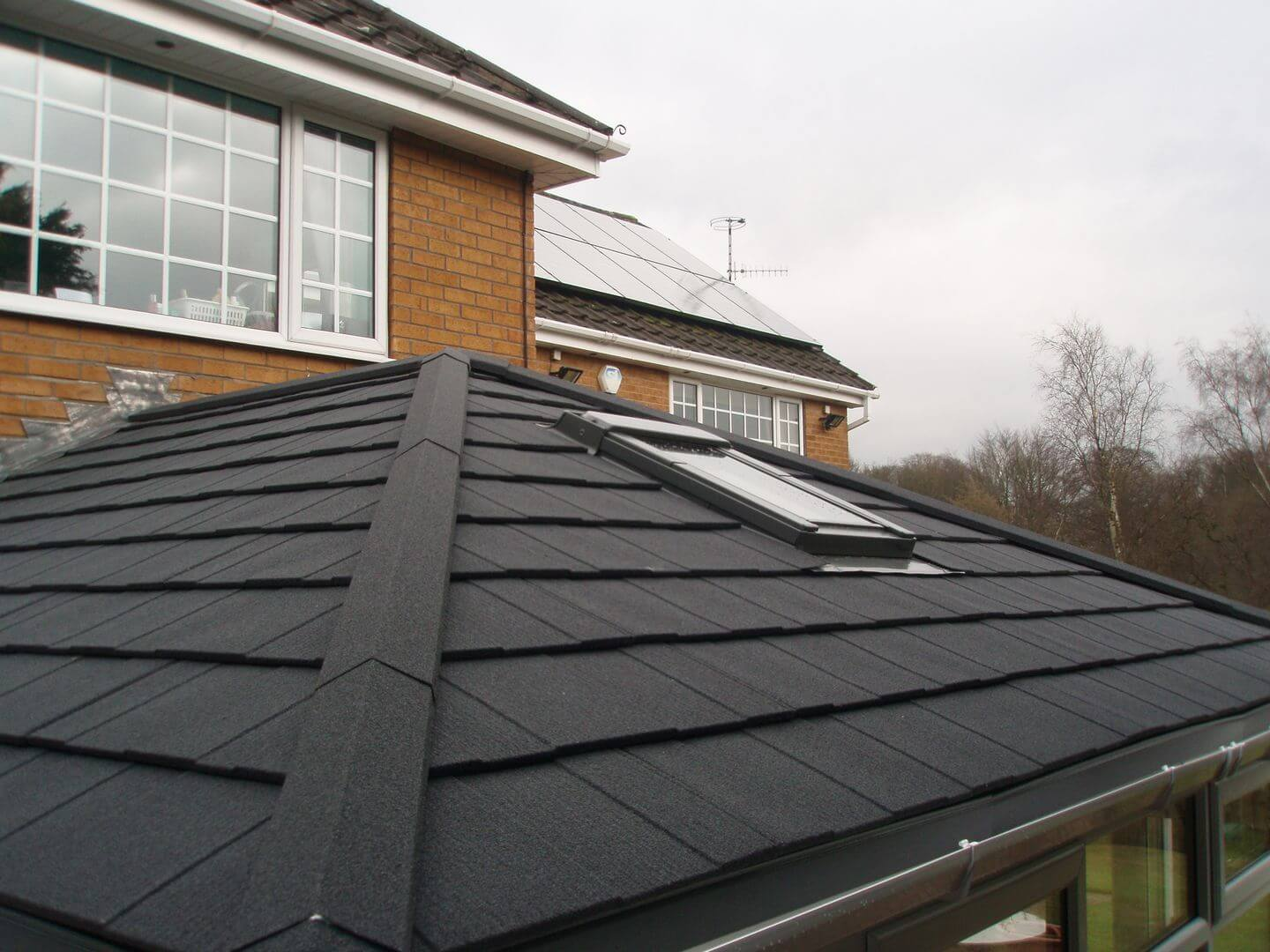restored house extension roof