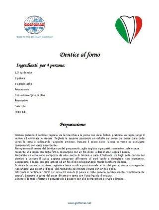 dentice al forno ricetta Golfomar La Spezia