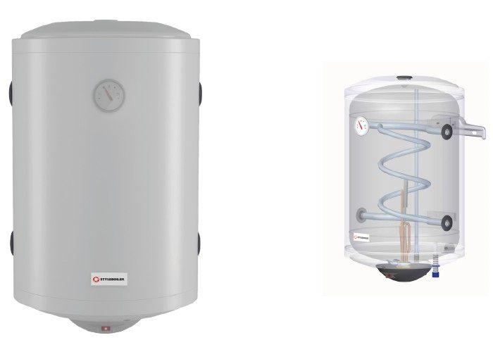boiler bianco con sistema interno