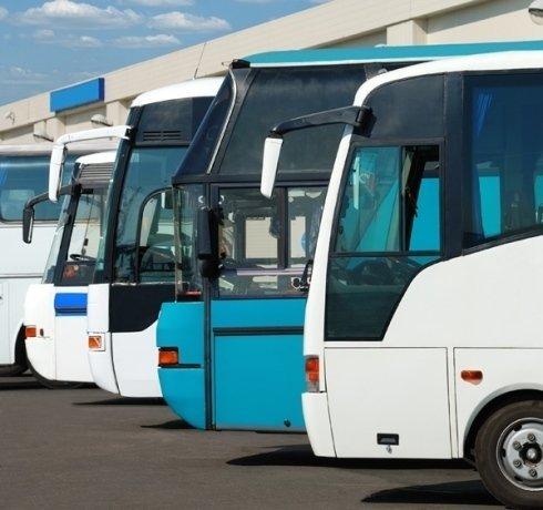 Ampio parco di autobus