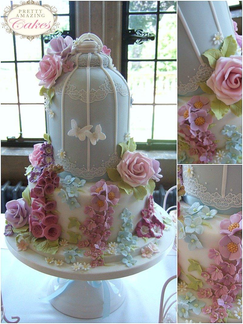 Birdcage wedding cakes Bristol Gloucester