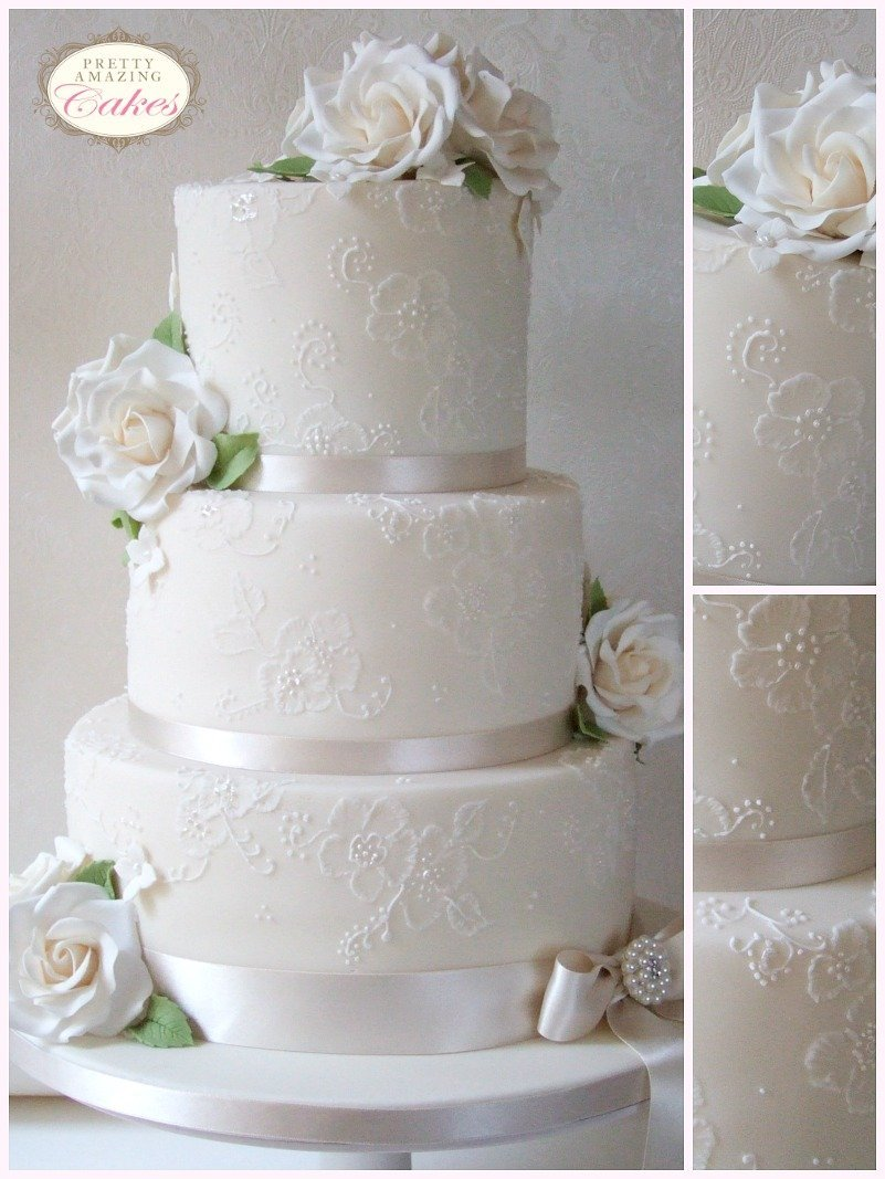 Lace wedding cakes Bristol Gloucester