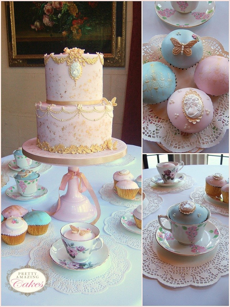 Vintage Afternoon Tea Cupcakes by Pretty Amazing Cakes Bristol