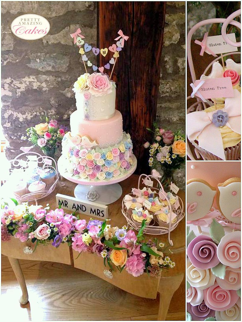 Cake table display at Pretty Amazing Cakes, Bristol
