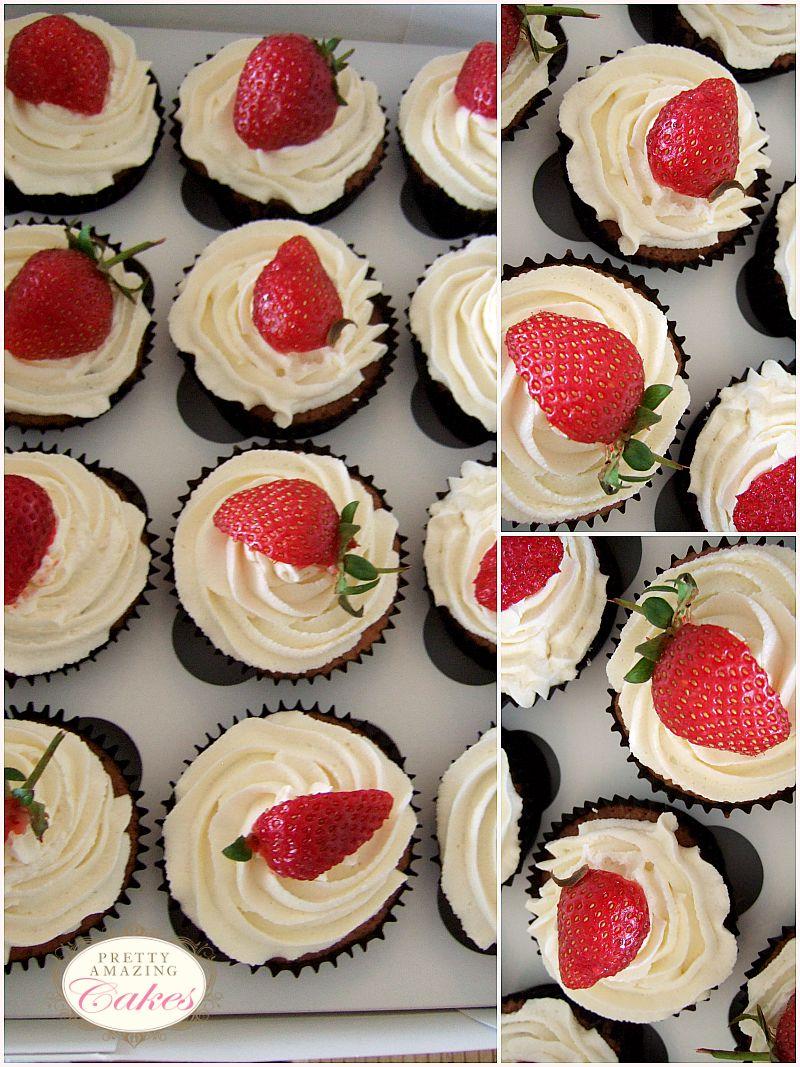 Fresh Strawberry Cupcakes Bristol