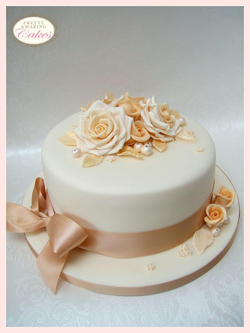Beautiful fresh flowers on wedding cakes - Wedding Anniversary Cakes Bristol Small Wedding Cakes
